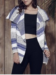 Stylish Long Sleeve Knitted Irregular Loose-Fitting Women's Cardigan