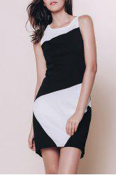 Color Block Mini Sheath Dresses -
