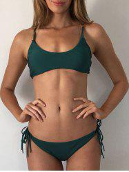 Scrunch Butt Criss-Cross Bralette Bikini Set