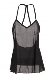 Sexy Style Solid Color Backless Tank Top For Women -