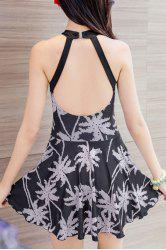 Women's Chic Printed Backless One Piece Swimwear -