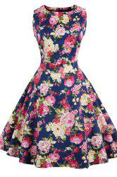 Floral Print Mini Pin Up Dress