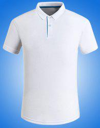 Solid Color Turn-Down Collar Plus Size Short Sleeve Polo T-Shirt For Men -