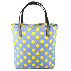 Sweet Color Block and Polka Dot Design Tote Bag For Women