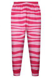 Cute Elastic Waist Striped Pants For Women -