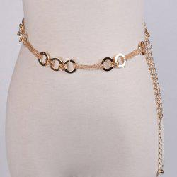 Metal Hoop Chain Belt - GOLDEN