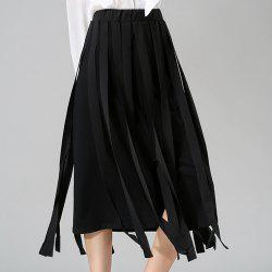 Stunning Elastic Waist Solid Color Midi Skirt For Women -
