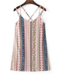 Mixed Print Strappy Tank Top