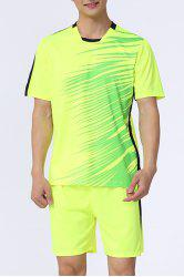 Men 's  Hot Sale style sport Football Training Jersey Set (T-Shirt + Shorts) -