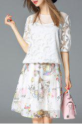 Cartoon Printed Skirt -
