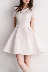 Hollow Out A Line Mini Dress -