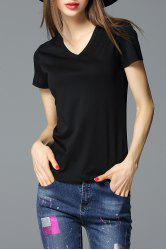 Sheath Solid Color T-Shirt -