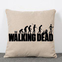 Fashion The Walking Dead People Silhouette Pattern Square Shape Flax Pillowcase (Without Pillow Inner) -