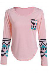 Color Block Geometry Pocket T-Shirt