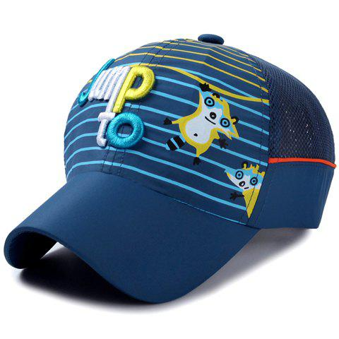 Outfit Stylish Letter Embroidery Stripe and Catoon Raccoon Pattern Baseball Cap For Kids