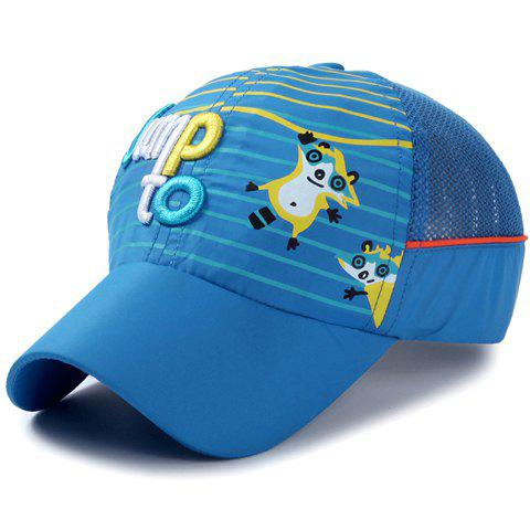 Cheap Stylish Letter Embroidery Stripe and Catoon Raccoon Pattern Baseball Cap For Kids