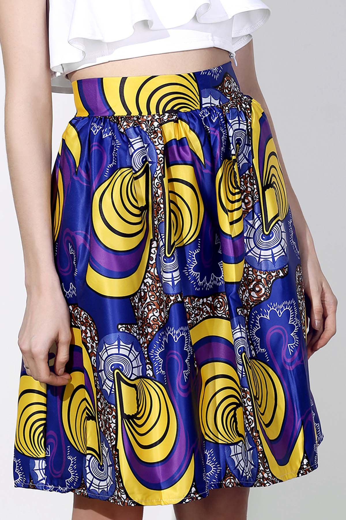 Affordable Vintage High-Waisted Printed Women's Pleated Skirt