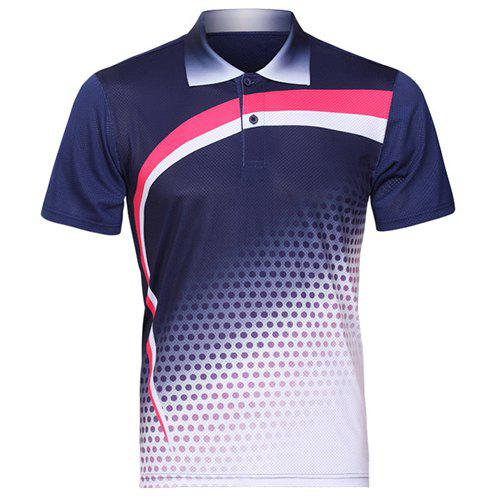 Outfit Men's Turn Down Collar Quick Dry Badminton Training T-Shirt