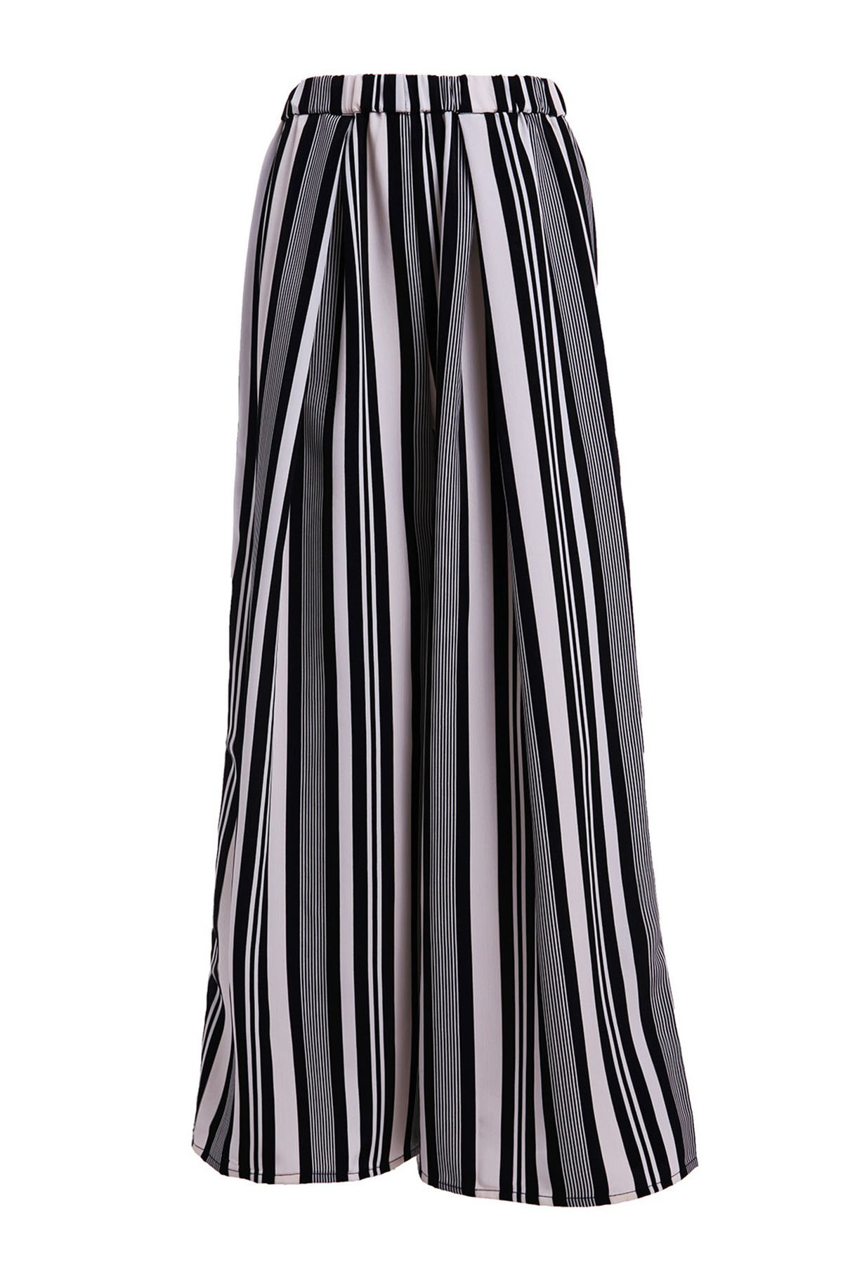Trendy Vertical Striped Wide-Leg Palazzo Pants