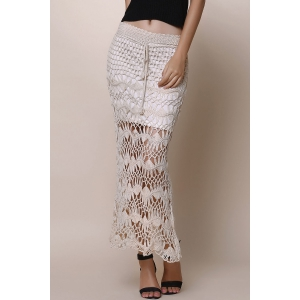 Crochet Lace Long Skirt -