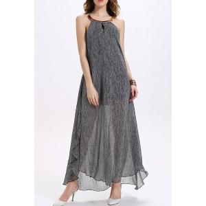 Halter Backless Chiffon Long Flowing Dress -