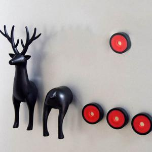 Stylish 3D Animals Sika Deer Shape Card Message Fridge Magnet