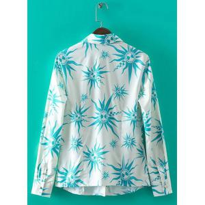 Trendy Shirt Collar Long Sleeves Printed Shirt For Women -