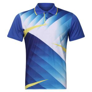 Men's Quick Dry Turn Down Collar Badminton Training T-Shirt