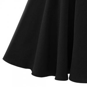 Chic Plus Size V Neck Flare Sleeve Cut Out Women's Dress -