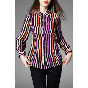 Vertical Stripe Printed Shirt -