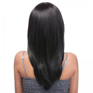 Charming Long Layered Full Bang Synthetic Straight Black Capless Wig For Women -