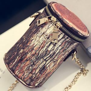 Vintage Double Zipper and Chain Design Crossbody Bag For Women -