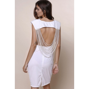 Sleeveless Open Back Bodycon Club Dress