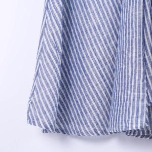 Women's Stylish Pinstriped Short Sleeve Blouse -
