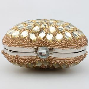Gorgeous Rhinestone and Heart Shape Design Evening Bag For Women -