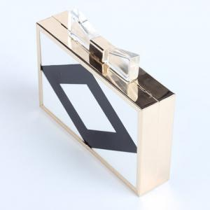Stylish Color Block and Square Shape Design Evening Bag For Women -