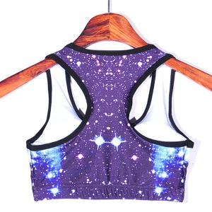 Fashinable U-Neck Padded Twinkling Star Print Women's Gym Bra -