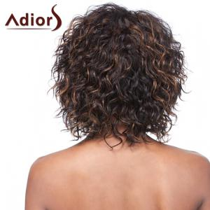 Vogue Brown Highlight Short Synthetic Fluffy Curly Capless Adiors Wig For Women -