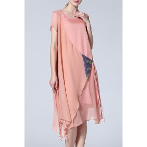 Asymmetric Belted Dress -