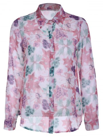 Hot Refreshing Floral Printed Long Sleeve Shirt For Women