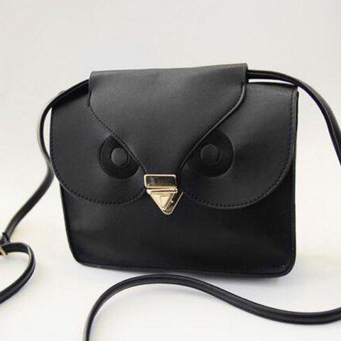 Trendy Retro Hasp and Owl Design Women's Crossbody Bag
