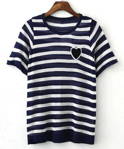 Buy Women's Stylish Striped Short Sleeve T-Shirt