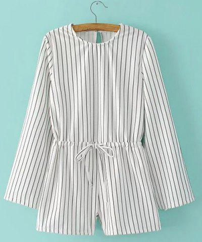 Discount Women's Stylish Long Sleeve Striped Romper