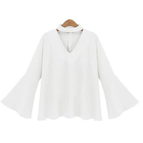 Store Plus Size Flare Sleeve Blouse