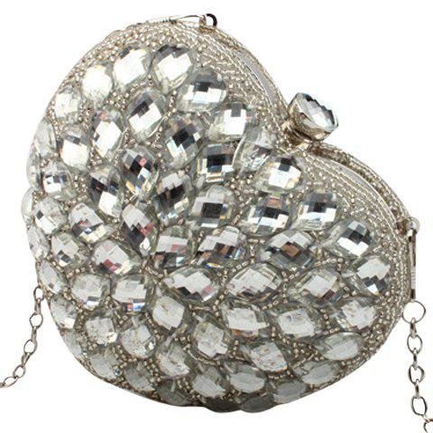 Buy Gorgeous Rhinestone and Heart Shape Design Evening Bag For Women