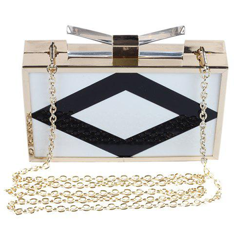 Latest Stylish Color Block and Square Shape Design Evening Bag For Women