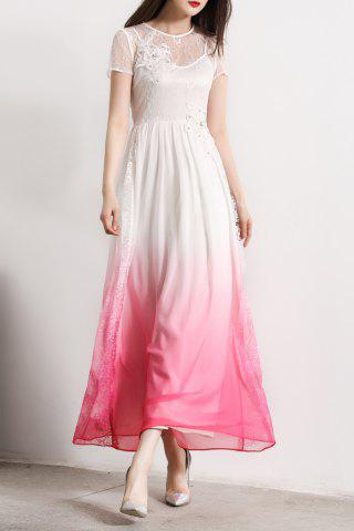Buy Beaded 3D Flower Ombre Maxi Dress
