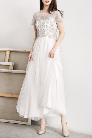 Best Tulle Embroidered Maxi Prom Dress