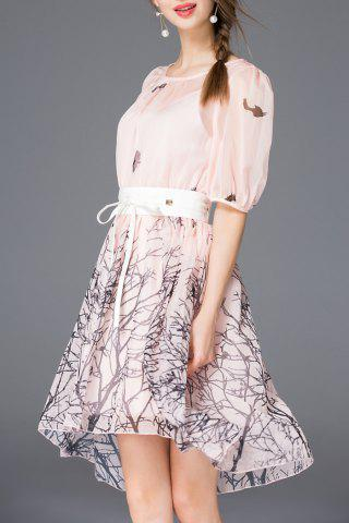 Buy Crinkly Printed Breezy Dress With Belt