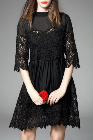 Hot Hollow Out Solid Color Dress